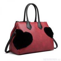 Moderní modro-černá kabelka s visacím zámkem Miss Lulu   NEWBERRY ... 9ccbebd5fd