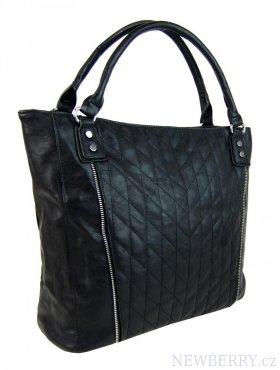 Moderní velká černá dámská prošívaná kabelka přes rameno YH1651 ... 98623445b3