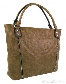 Moderní velká hnědá dámská prošívaná kabelka přes rameno YH1651 ... 22e4156f0c